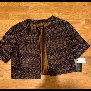 Nanette Lepore Metallic Cropped Jacket Size 4